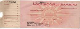 BANCO NACIONAL ULTRAMARINO-ALBUFEIRA - Cheques & Traveler's Cheques