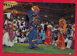 CARTOLINA NV NEPAL - Masked Dance - 10 X 15 - Nepal