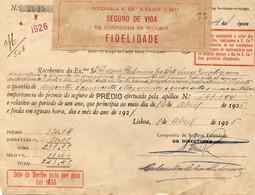 """COMPANHIA DE SEGUROS """"FIDELIDADE""""1926 - Portugal"""