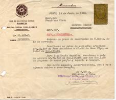 """COMPANHIA DE SEGUROS """"GARANTIA""""1953-COM VINHETA - Portugal"""