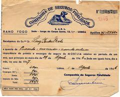 """COMPANHIA DE SEGUROS """"FIDELIDADE""""1946 - Portugal"""