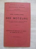 DEPLIANT CARTONNE MINISTERE AERONAUTIQUE MILITAIRE 1917 - 1914-18