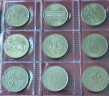 ITALIA 9 MONETE DA 200 LIRE COMMEMORATIVE ANNI VARI - Gedenkmünzen