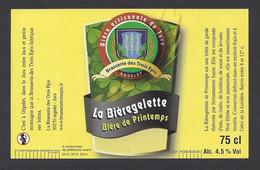 Etiquette De Bière De Printemps  -  La Bièregelette  -  Brasserie Des Trois Epis à Orgelet  (39) - Beer