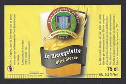 Etiquette De Bière Blonde  -  La Bièregelette  -  Brasserie Des Trois Epis à Orgelet  (39) - Beer