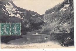 MASSIF DU PELVOUX : CPA N.TROUVEE SUR SITES. BATAILLON DE CHASSEURS ALPIN AU LAC DE LA MUZELLE.1908.T.B.ETAT - Otros Municipios