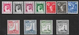 QATAR 1961 SET SG 27/37 LIGHTLY MOUNTED MINT Cat £120 - Qatar
