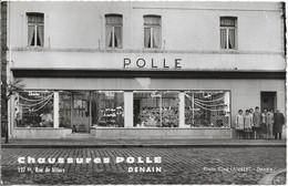 "Devanture Magasin : CHAUSSURES POLLE 137 Bis Rue De Villars DENAIN , "" Photo Ciné LAMBERT Denain "" - Denain"