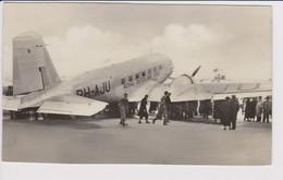 """Vintage Rppc KLM K.L.M Royal Dutch Airlines Douglas Dc-2 """"UIVER"""" @ Schiphol Airport - 1919-1938: Between Wars"""