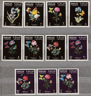 SHARJAH 1967 Flowers MNH(**) Mi 364-374 #22676 - Rosen
