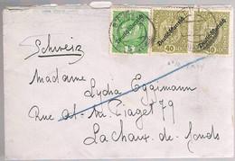 Austria, 1920, For Chaux-de-Fonds - Cartas