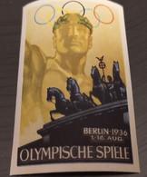 ERINNOFILI VIGNETTE CINDERELLA - BERLINO 1936 OLIMPIADI OLYMPISCHE SPIELE - Cinderellas