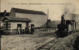 YVELINES - 78 - MEULAN - FLINS-SUR-SEINE - Gare Du Tramway De Versailles à Meulan - Meulan