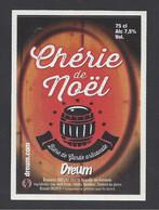 Etiquette De Bière  -  Chérie De Noël  - Brasserie  Dreum  à  Neuville En Avesnois- (59) - Beer