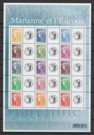 """FRANCE 2008 - La Dernière émission De Timbres Personnalisés : Feuille """"Marianne Et L'Europe"""" - Yvert  F4226A - Personalisiert"""