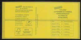 VARIETE  CARNET SAGEM LP: MARIANNE DE CIAPPA TEXTE VERT NUMEROTE - Definitives