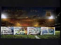 Bund 3380-3382 H-Blatt 52 Zusammendruck Gestempelt ESST BONN - Fußball MH 109 - Postzegelboekjes