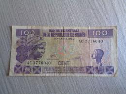 GUINEE-BILLET DE 100 FRANCS-1985 - Guinea