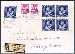 Austria, 1936, Registo, Wien-Fribourg - Storia Postale