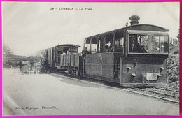 Cpa Corbion Le Tram Tramway Gare Halte Train Carte Postale Belgique Province Luxembourg Rare Proche Bouillon - Bouillon