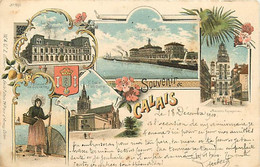 62 SOUVENIR DE CALAIS - CP PIONNIERE LITHO - VOIR LES SCANS POUR PLUS DE RENSEIGNEMENTS BELLES PHOTOS - Calais