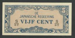 DUTCH EAST INDIES. 5 CENT 1942. SERIAL S/BT. Pick120c. UNC / NEUF - Dutch East Indies