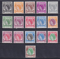 MALAYA PENANG 1954, SG# 28-43, CV £75, Elizabeth II, MNH - Penang
