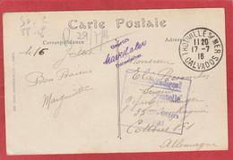 Carte En FM - Trouville Sur Mer (Calvados) Vers Camp De Prisonniers De Cottbus 1916 - Cachet De Censure - Guerra Del 1914-18