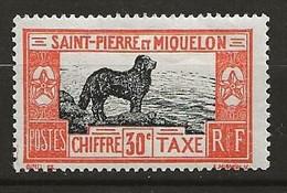 SAINT PIERRE ET MIQUELON 1932 . Timbre Taxe N° 25 . Neuf ** (MNH) - Portomarken