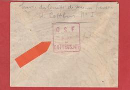 Lettre En FM - Cachet Du Comité De Secours Français De Cottbus - Kriegsgefangenen Sendung Vers Paris - Guerra Del 1914-18