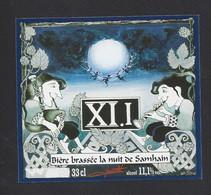 Etiquette De Bière Brassée La Nuit De Samhain  - XI.I  -  Brasserie Lancelot  Le Roc Saint André  (56) - Beer