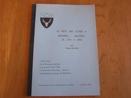LA POSTE AUX LETTRES à WATERMAEL BOISFORT De 1714 à 1940 Marcophilie Philatélie Cachets Lettre Guerre 14 18 Auderghem - Bélgica