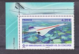 France PA 83a 2019 Concorde Avec Bord De Feuille  (feuille De 10) Neuf ** TB MNH Sin Charnela Faciale 4.2 - 1960-.... Mint/hinged