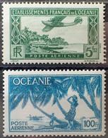R2452/669 - 1934 Et 1944 - COLONIES FR.- OCEANIE - POSTE AERIENNE - N°1 Et 18 NEUFS* - Airmail