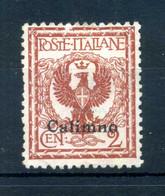 1912 CALINO N.1 (*) - Aegean (Calino)