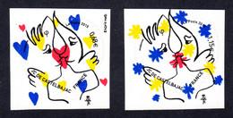 FRANCE 2015 - Autoadhésifs Yvert N° 1082/1083 NEUFS, Saint-Valentin, Coeurs Jean-Charles De Castelbajac, 2 Valeurs - Luchtpost