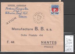 Reunion - Lettre BELLEMENE - Hexagonal -1967 - Storia Postale