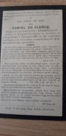 CAMIEL DE CLERCQ, PETEGEM BIJ DEINZE 1843 - NAZARETH 1899 - Devotieprenten