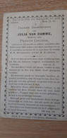 JULIA VAN DAMME, NAZARETH 1817-1897 - Devotieprenten