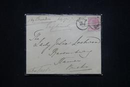 INDES ANGLAISES - Enveloppe De Madras Pour Le Royaume Uni En 1872, Affranchissement Victoria - L 93415 - 1858-79 Crown Colony