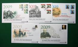 Bund 5 Jubiläumsbriefe 2009 Der Deutschen Post Ersttagssonderstempel (GG665 - FDC: Briefe