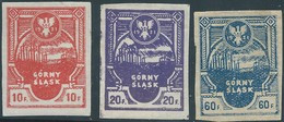 POLONIA POLAND POLSKA Polen,1921 East Upper Śląsk- Silesia , 10-20-60f. Imperforated,Hinged - Silesia (Lower And Upper)