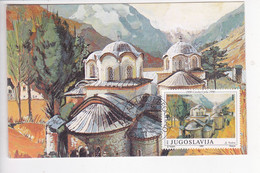 KOS37  --   KOSOVO  --  PECKA PATRIJARSIJA  ---  1990  --  CARTE MAXIMUM - Kosovo