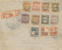 Nederlands Indië - 1923 - R-Cover Met Bandoeng-serie En NDE In R-strook, Jaarbeursvlucht Van Bandoeng Naar Weltevreden - Nederlands-Indië