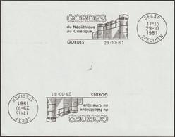France 1981. Épreuve SECAP Tirée à 3 Exemplaires. Gordes, Vaucluse. Du Néolithique Au Cinétique. Château - Castles
