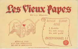 BUVARD VINS LES VIEUX PAPES - Alimentare