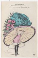 +++ ORENS +++ A LA MODINETTE +++ Chapeau Mappemonde Garni De Roses Et De 2 Petites Fraises Qui Ne Sont Pas De Bois +++ - Orens
