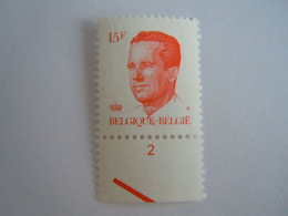 België Belgique 1984 Boudewijn Baudouin Type Velghe  Planche  2 Fosfor Papier ??? 2124 Yv 2123 MNH ** - Ohne Zuordnung