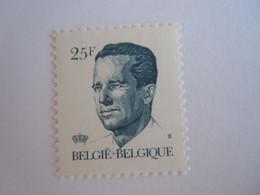 België Belgique 1990 Boudewijn Baudouin Type Velghe Gomme Jaune  2356 Yv 2353  MNH ** - 1981-1990 Velghe