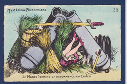 CPA CONGO Afrique Noire Non Circulé Caricature Satirique Par Orens Kaiser Allemagne Tirage Limité Maroc - Orens